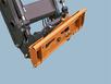 Поворотное устройство для быстрой смены навесного оборудования погрузчика
